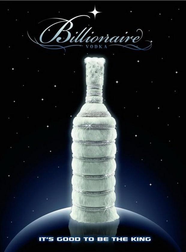 most expensive beverages- Billionaire vodka