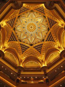 interior of Emirates Palace, Abu Dhabi - world's most expensive hotel-