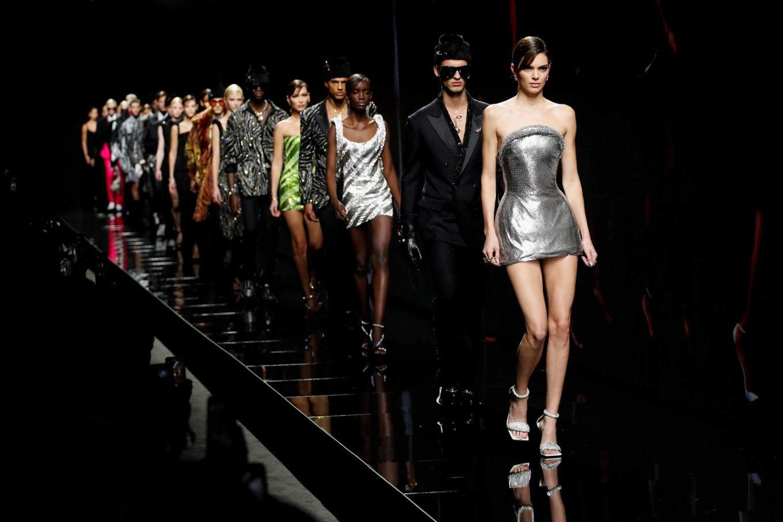 Versace fall-winter 2020 in Milan fashion week