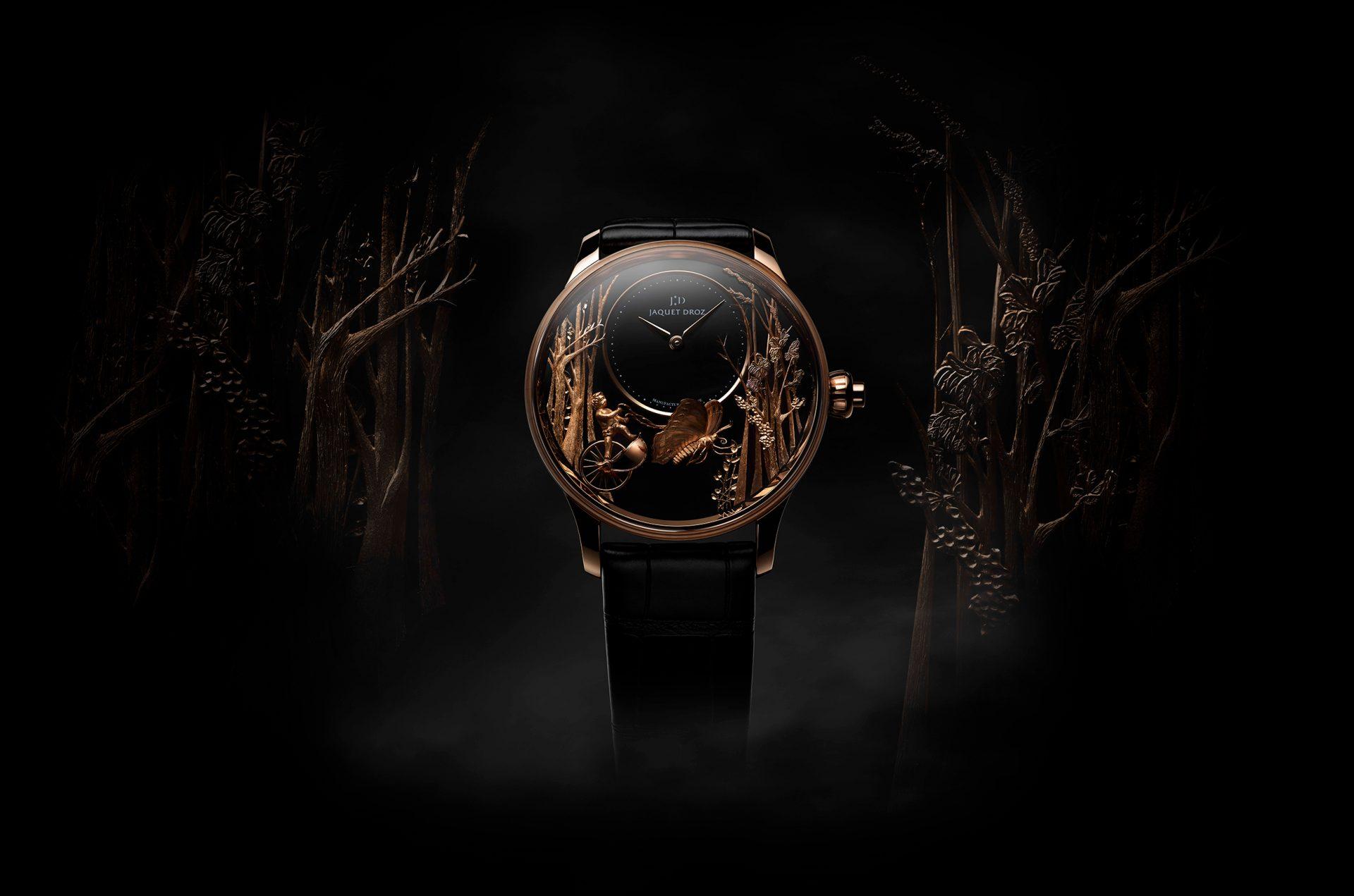 J032533270 LOVING BUTTERFLY AUTOMATON PUB 1 – Jaquet Droz Automaton Luxury Watch