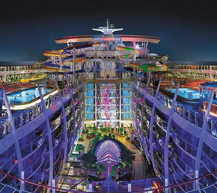 harmony perfect storm central park pool deck nightime overview hero asset 1 – Harmony of The Seas: 18 Decks of Emotions!