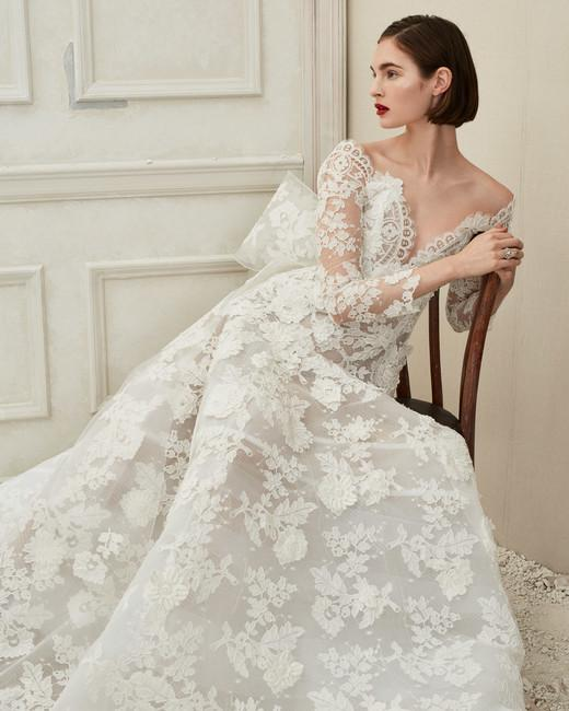 oscar de la renta wedding dress fall2019 10 vert – Oscar de la Renta: Sense Of Elegance