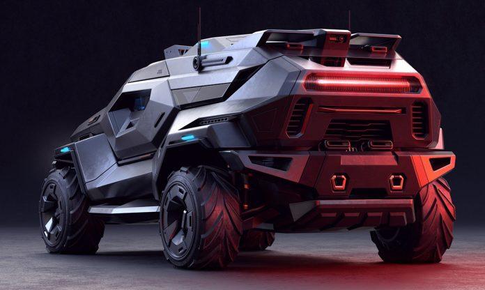 Armored SUV rear