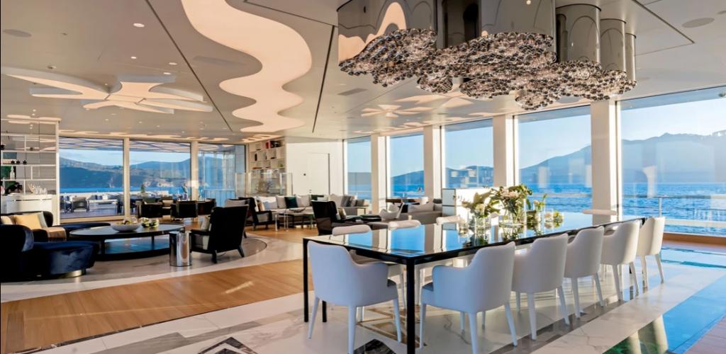Luminosity interior – Burgess Yachts Luminosity Cruise Ship is a Luxurious High-tech Vessel