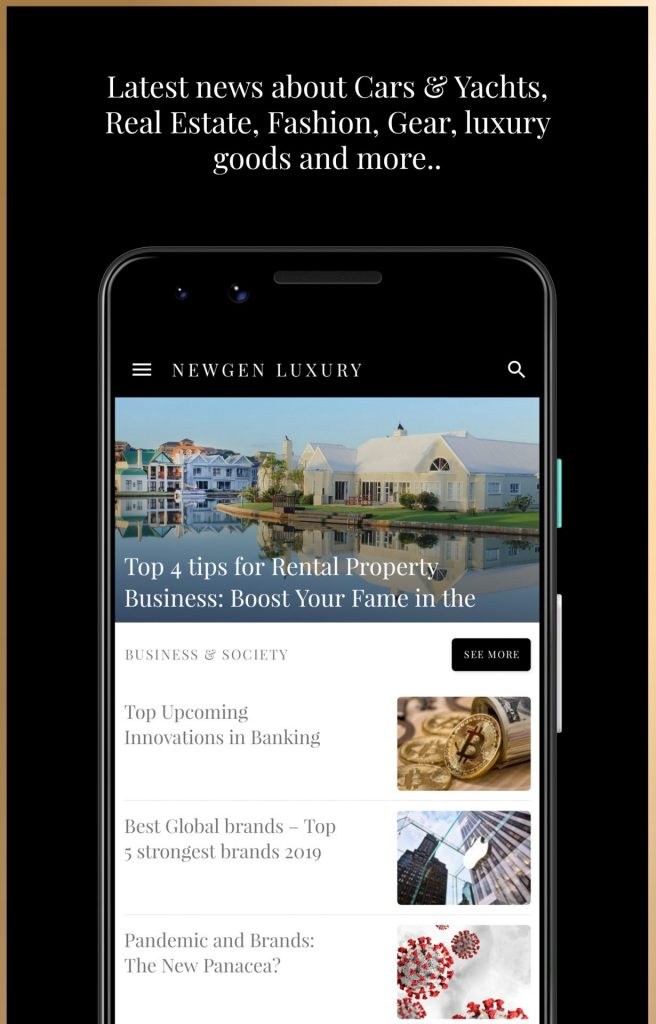 4 – Luxury Magazine Newgen Luxury Android App